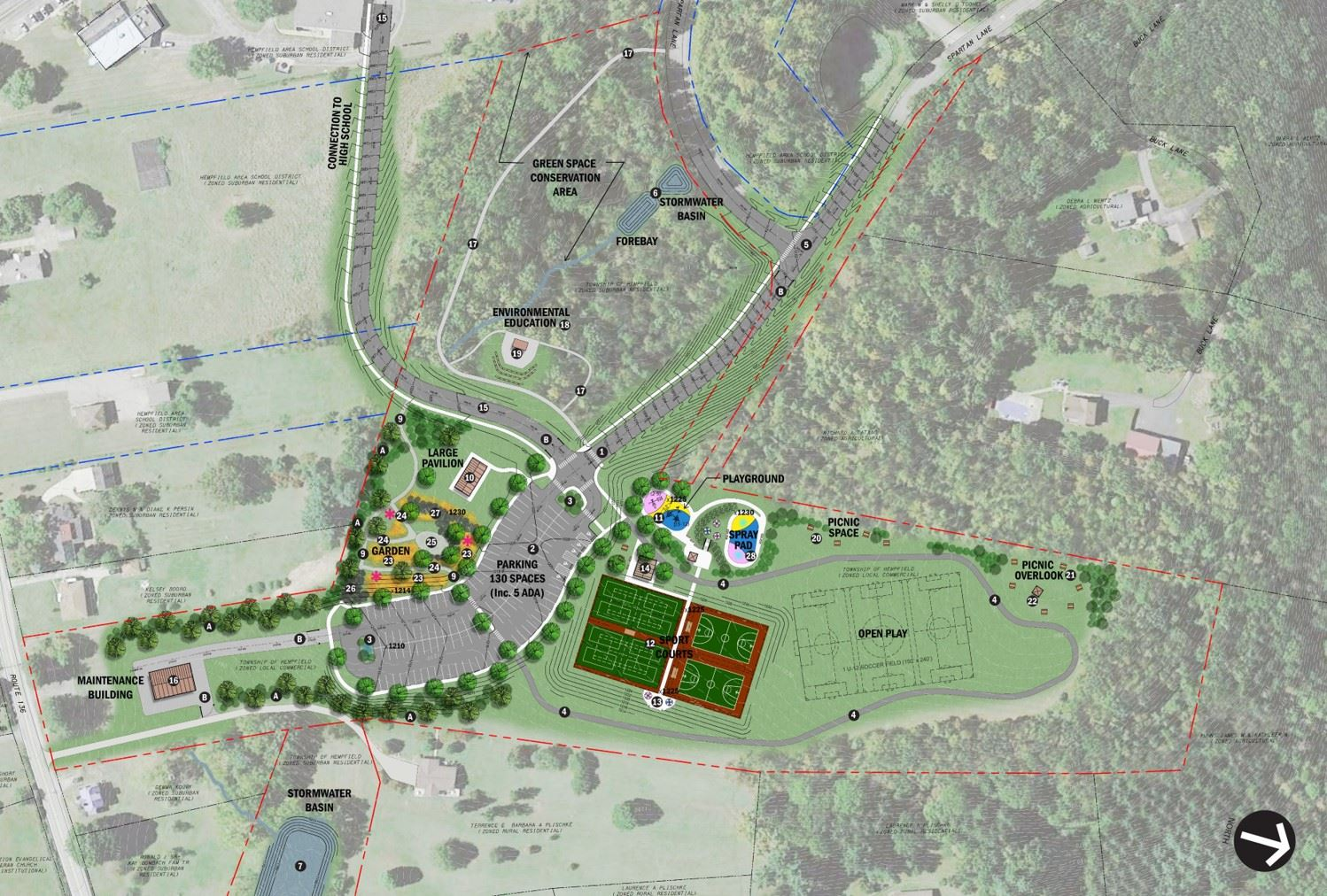 Spartan Lane Park Masterplan Rendering_No Block